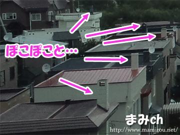 北海道の家にある煙突